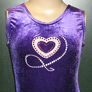 gymnastic leotards, diamente velour leotards, heart leotard