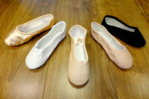 Canvas or leather Ballet Shoe fittings for your Dance School Uniform in different width fittings and all sizes in stock from brands Bloch, Freed,  Katz and Chacotte.
