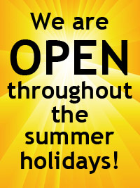 Dance shop open all summer. Dancers Boutique is open throughout the summer holidays.