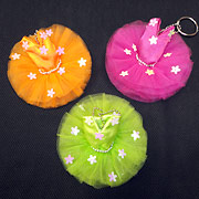 tutu keyring, orange tutu, stocking fillers for dancers