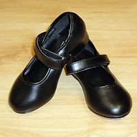 Velcro fastening tap shoes.