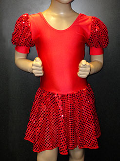 sparkly dress, red dance dress, childrens sequin dress