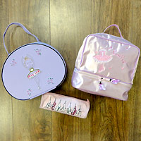 baby ballet bags, bags for young dancers, satin ballet bags, ballet pencil cases.