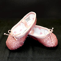 Sparkly Ballet Shoes available at Dancers Boutique.