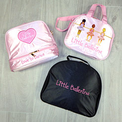Ballet vanity cases, bags for ballerinas, Little Ballerina bags.