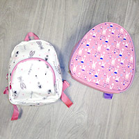 Girls cute Dance School Bag Backpacks in pink or white.