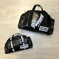 Black Pineapple Dance Bags in small and large sizes.