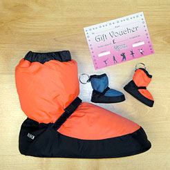 Gifts for Dancers UK Shop Local for Bloch warm up booties, orange booties, booties for dancers