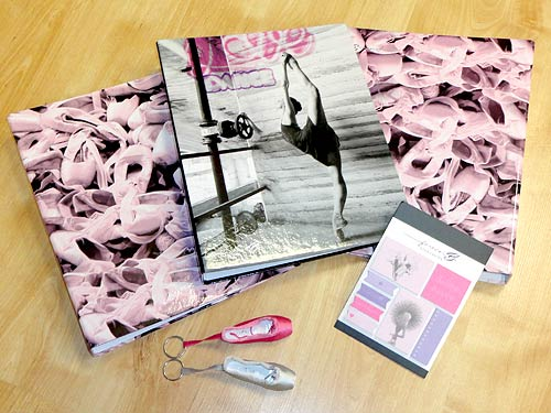 Dance folders for schoolwork,  ballet sticky notes with keyrings.