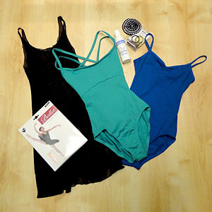 Everything a full-time dance student needs, all available at Dancers Boutique. Phone for what you need for delivery to your college.