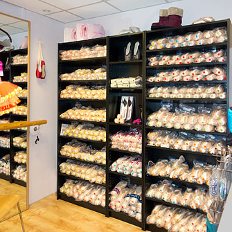 Dancers Boutiques' The Pointe Shoe Centre which has become reknowned for it's expert fittings and happy teachers.