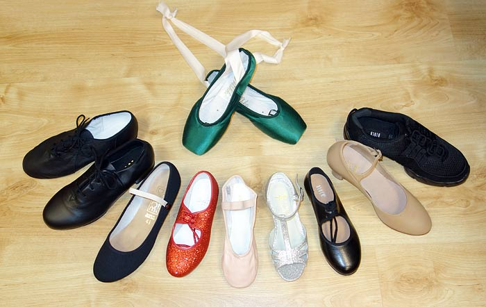 Dancers Boutique, the Dance Shop for Pointe Shoes, Jazz Soft Shoes, Tap Shoes, Ballet Slippers, Sparkly Red Tap Shoes, Ballet Shoes, Childrens Ballroom Shoes, Black Character Shoes, Tan Character Shoes and Dance Trainers.