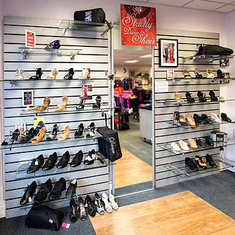 Our Strictly Dance shoes area for ballroom, latin and salsa shoes in the UK within Dancers Boutique.