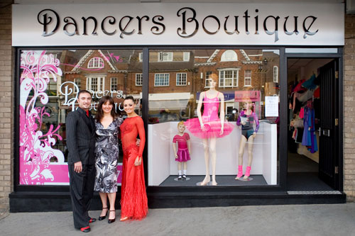 Vincent and Flavia take a break from BBC's Strictly Come Dancing to visit the NEW Dancers Boutique