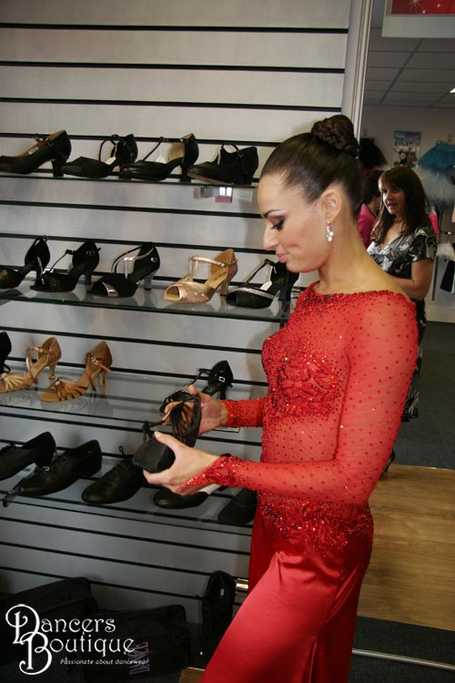 Flavia loved our ballroom and latin shoes and she thought the mini dance floor was a brilliant idea