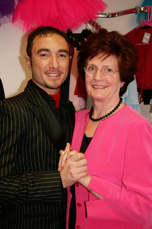 Sheila from Dancers Boutique is charmed by Vincent