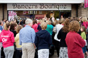 The NEW Dancers Boutique, with crowds gathering to see in person Strictly stars Vincent and Flavia
