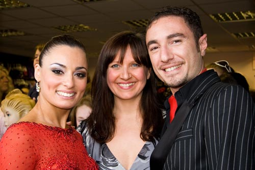 Paula, the owner of Dancers Boutique with Vincent and Flavia