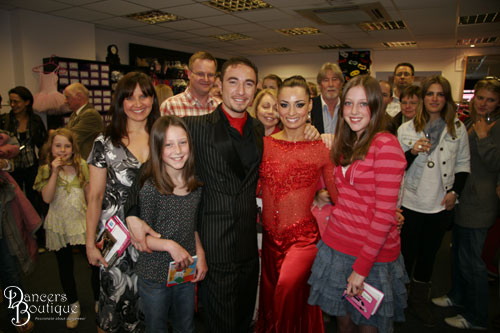 Lucia and Issy have their photo taken with their favourite 'Strictly' stars